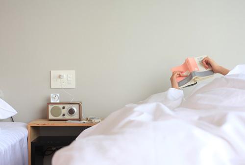 寝ながら音楽を楽しめます