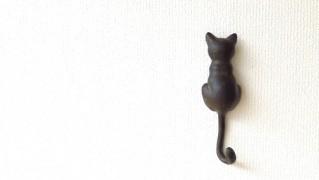 猫の雑貨「ネコのテールフック」
