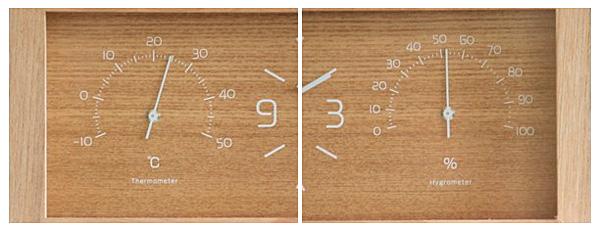 レムノス ヨウカンの温度計と湿度計