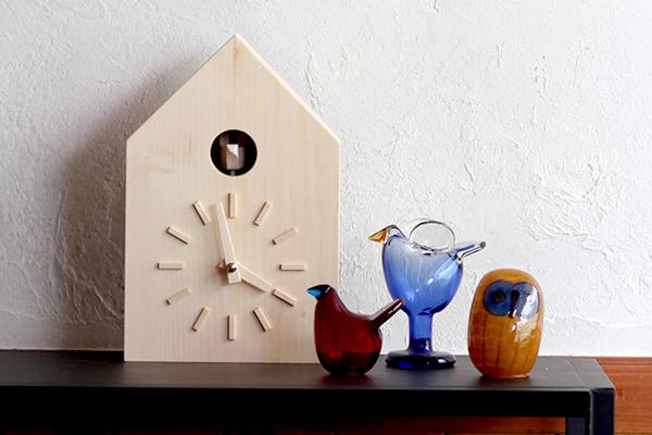 ナチュラルシンプルな鳩時計「more trees 鳩時計」
