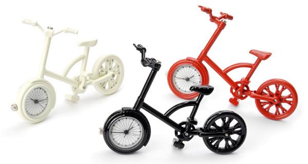 ミニチュア自転車の置き時計「tiny-bicycle-clock」