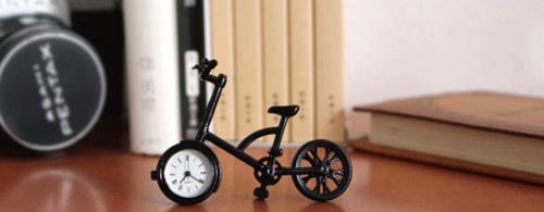 おしゃれな自転車置き時計