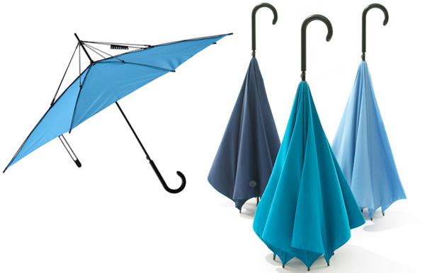 たたんでも濡れない逆さま傘「unbrella」