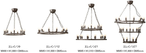 4種類のデザインを並べた画像