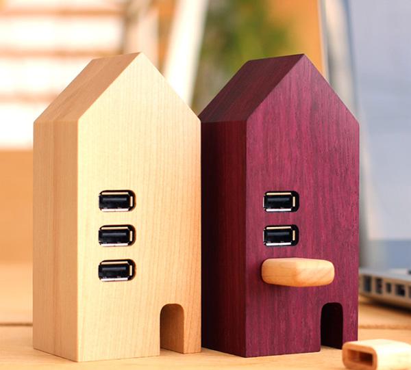 木製USBハブ「usb-hub-house」の画像