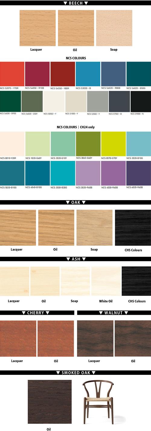 材質ごとに選べる仕上げと色を並べた画像