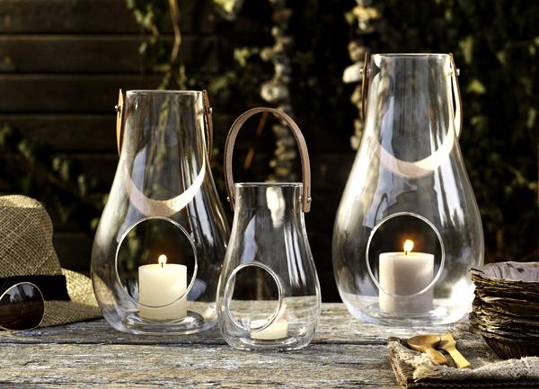 シンプルおしゃれなガラスキャンドルホルダー「ホルムガード デザイン ウイズライト ランタン」の画像