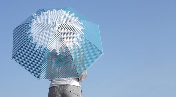 富士山デザインのかわいいビニール傘「富士傘(ふじさん)」の画像