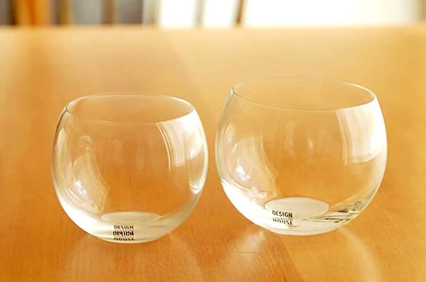 丸みがかわいいおしゃれグラス「globe glass(グローブグラス)」の画像