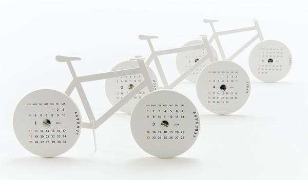 おしゃれな自転車型の卓上カレンダー「good morning Bike Calendar(グッドモーニング バイクカレンダー)」の画像