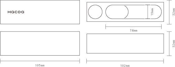 実印タイプの寸法図