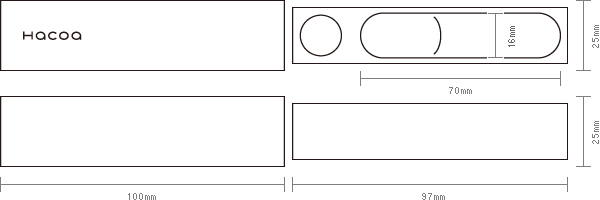 通常タイプの寸法図