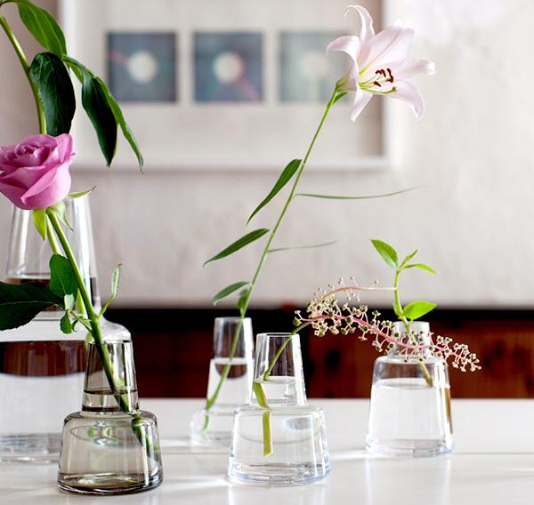 シンプルおしゃれな花瓶「Holmegaard Flora Base(ホルムガード フローラベース)」の画像