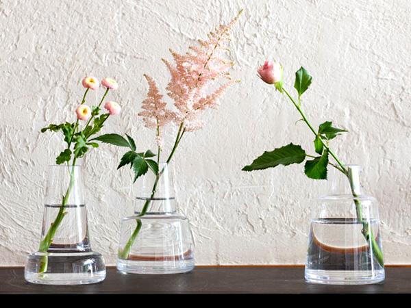 フローラの3種類のデザインを並べた画像