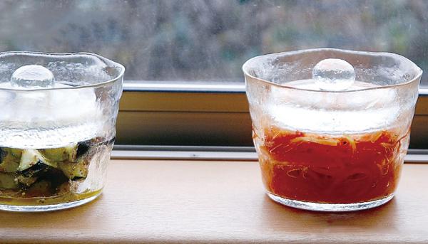 ガラス製浅漬鉢「KINTO(キントー)浅漬鉢」の画像