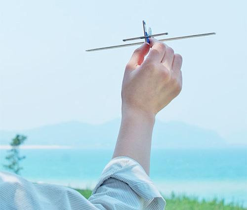 飛行機を飛ばそうとしている画像