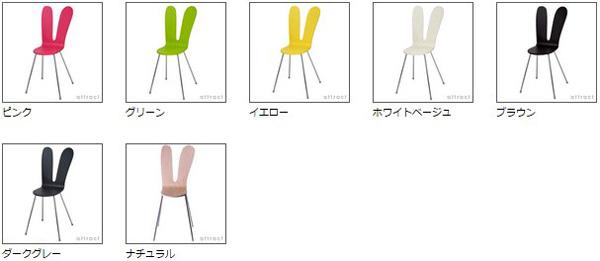 7種類のカラーを並べた画像