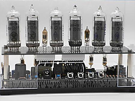 ニキシー管時計の裏側の画像