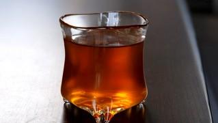 おしゃれかわいい手作りグラス「原光弘 三つ足タンブラー」の画像