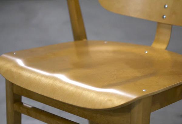 座面カーブの拡大画像
