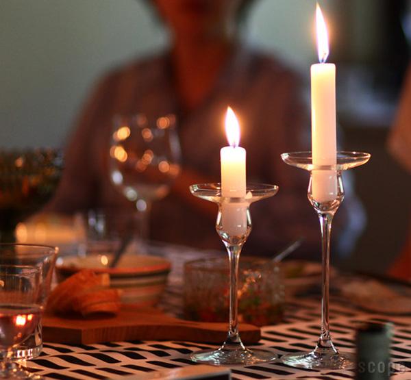 北欧のおしゃれガラスキャンドルホルダー「Holmegaard Cabernet Candlestick(ホルムガード カベルネ キャンドルスティック)」の画像