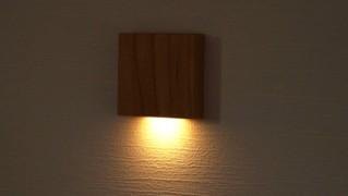 センサーライトが点灯している画像