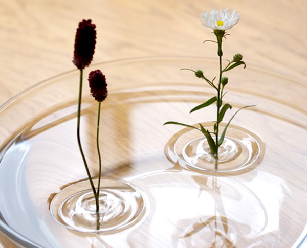 リップルを水に浮かべた画像