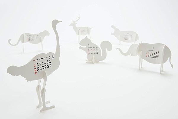 おしゃれかわいい卓上カレンダー「good morning Zoo(グッドモーニング ズー)」の画像
