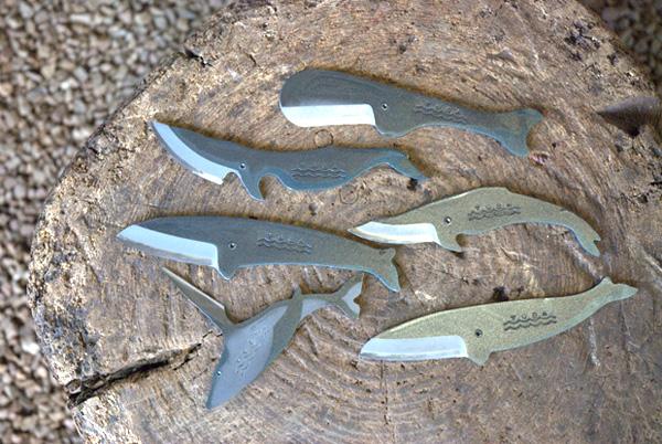 くじらナイフを並べた画像