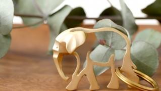 おしゃれかわいい真鍮製の動物キーホルダー「PROOF OF GUILD EZA animal(プルーフ オブ ギルド エズアニマル)」の画像