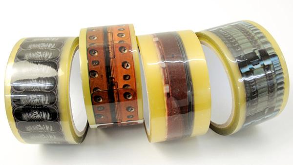 4種類のテープを並べた画像