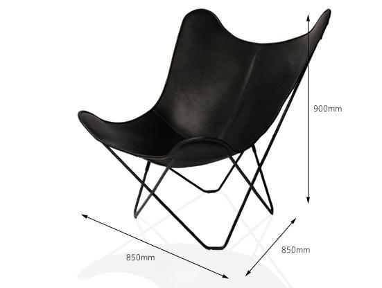 椅子の寸法が描かれた画像