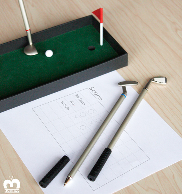 ゴルフクラブ型ボールペン「GOLF SET PEN(ゴルフセットペン)」の画像