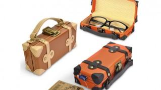 トランク型メガネケース「TRUNK SHAPE GLASSES CASE(トランクシェイプ グラスケース)」の画像