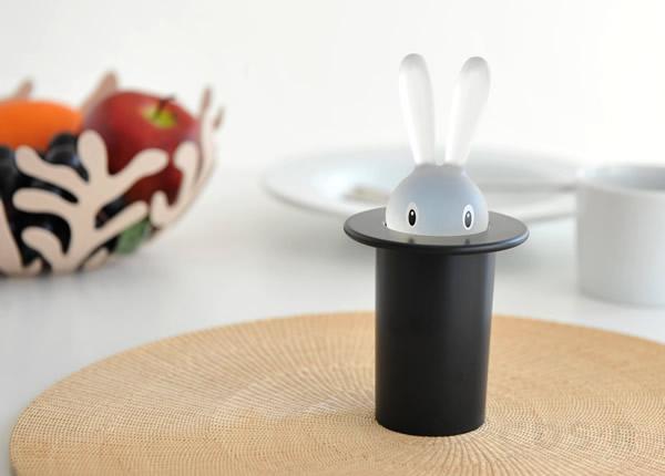 かわいいうさぎのつまようじ入れ「ALESSI Magic Bunny(アレッシィ マジックバニー)」の画像