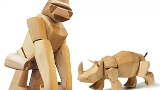動物型の木のおもちゃ「AREAWARE wooden(エリアウェア ウーデン)」の画像