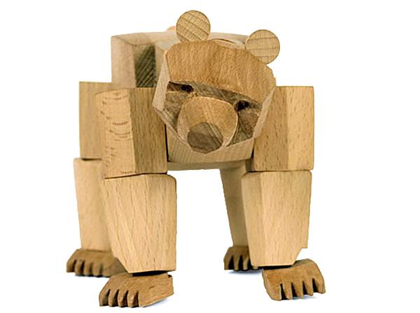 クマの木のおもちゃの画像
