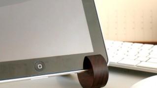 おしゃれな木製iPadスタンド「Hacoa ipad stand」