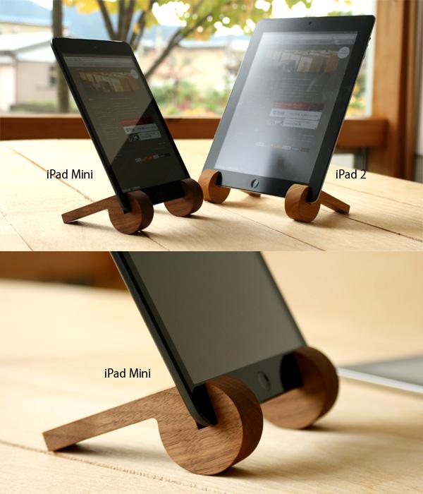 iPadをスタンドに立てかけた画像