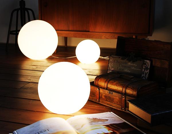 ボール型フロアランプ「BALL LAMP」