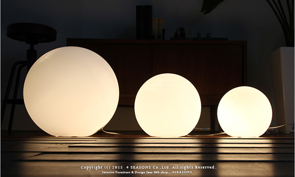 3サイズのボールランプを並べた画像