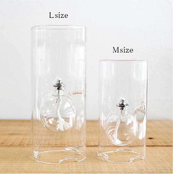 2種類の大きさのランプを並べた画像