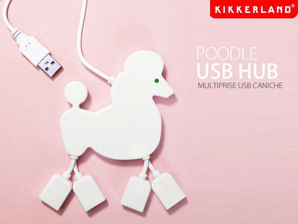プードル型USBハブ「KIKKERLAND USB POODLE HUB」