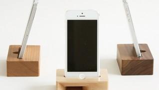 iPhone用木製スピーカー「Eau ACUSTICO」の画像