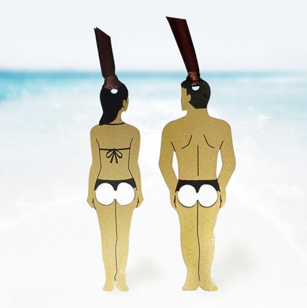 男女のしおりを並べた画像