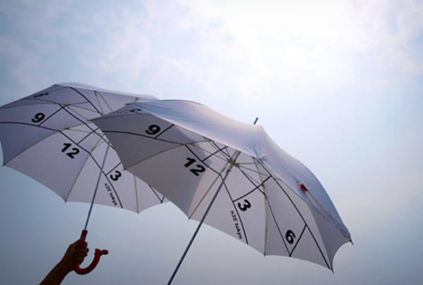 時間と季節がわかるおしゃれ傘「691236」の画像