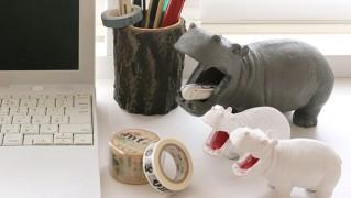 カバの小物入れ「HUNGRY HIPPO」の画像