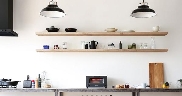 トースターをキッチンに置いた雰囲気画像