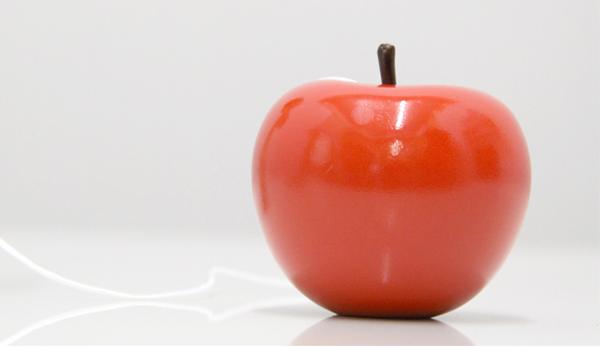 リンゴ玉の拡大画像