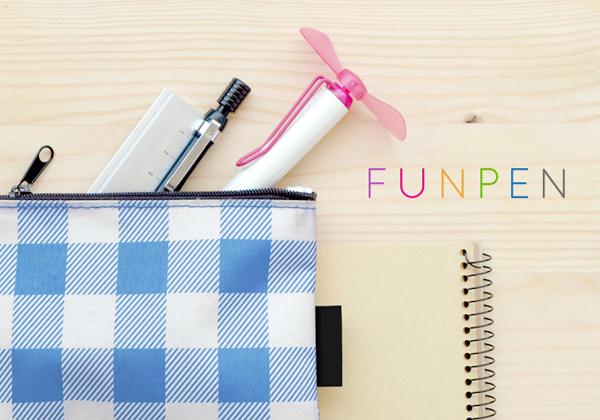 fun penをペンケースに入れている画像